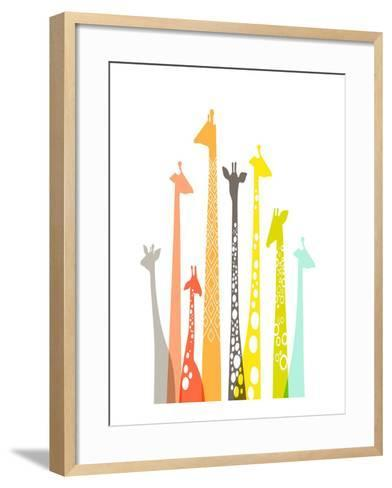 Giraffes-The Paper Nut-Framed Art Print