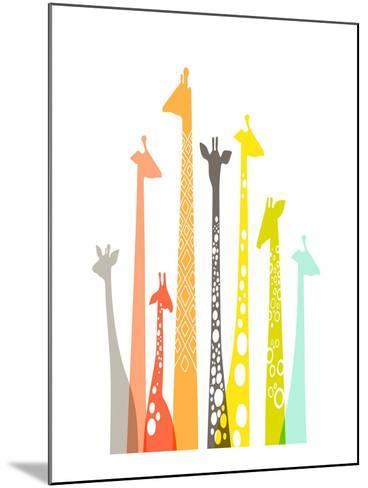 Giraffes-The Paper Nut-Mounted Art Print