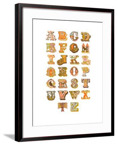 Alphabet-The Paper Nut-Framed Art Print