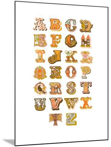 Alphabet-The Paper Nut-Mounted Art Print