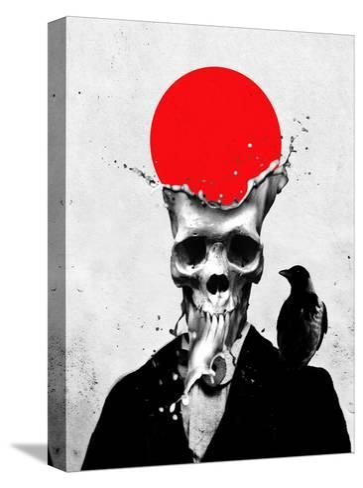 Splash Skull-Ali Gulec-Stretched Canvas Print