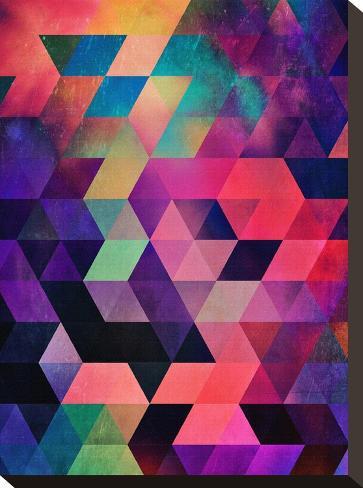 Untitled (rykynnzyyll)-Spires-Stretched Canvas Print
