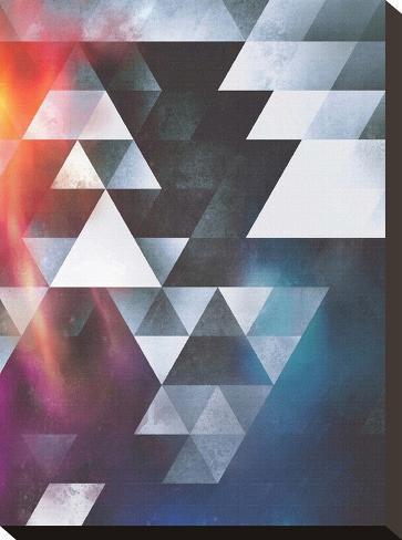 Untitled (wyy tww gryy)-Spires-Stretched Canvas Print