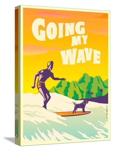 Going My Wave-Diego Patino-Stretched Canvas Print