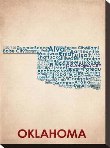 Oklahoma--Stretched Canvas Print