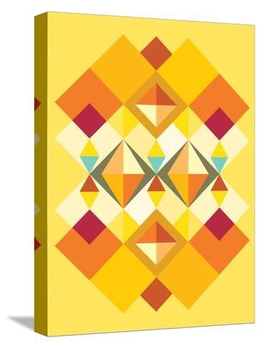 African Fabric Pattern-Patricia Pino-Stretched Canvas Print