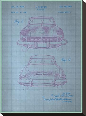 Studebaker Blueprint--Stretched Canvas Print