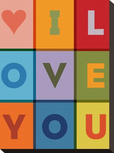 I Love You-Brett Wilson-Stretched Canvas Print