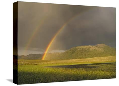 Rainbow over Boulder Mountains, Idaho-Tim Fitzharris-Stretched Canvas Print