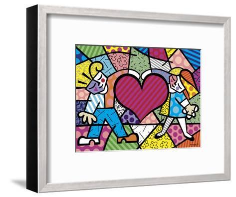 Heart Kids-Romero Britto-Framed Art Print