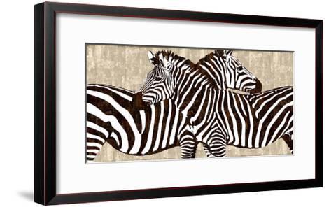 Zebra Gathering-Darren Davison-Framed Art Print
