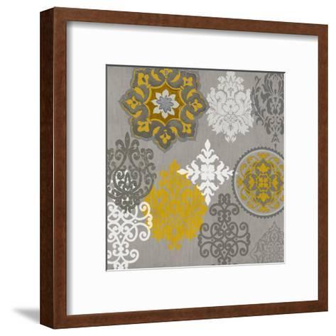 Decorative Ornaments In Gold I-Ellie Roberts-Framed Art Print