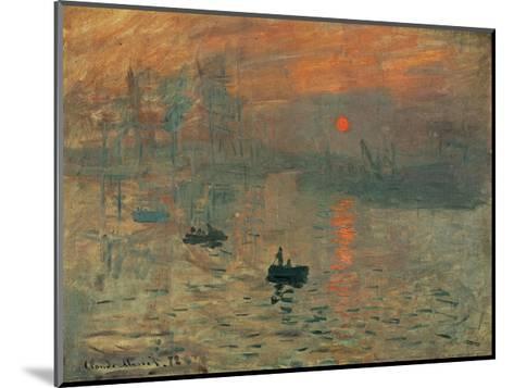 Impression, Sunrise, c.1872-Claude Monet-Mounted Giclee Print