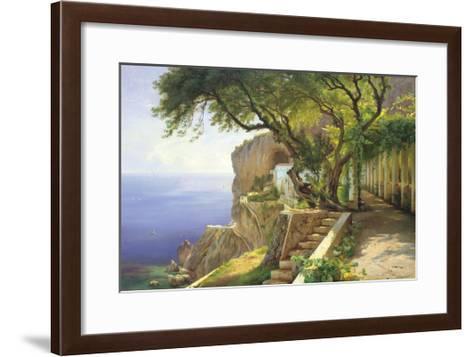 Pergola in Amalfi-Carl Frederic Aagaard-Framed Art Print