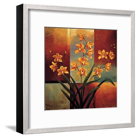 Orange Orchid-Jill Deveraux-Framed Art Print