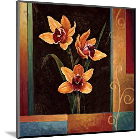 Yellow Orchids-Jill Deveraux-Mounted Giclee Print