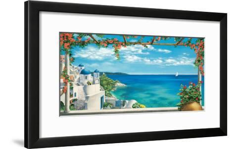 Village in Greece-Robert Dominguez-Framed Art Print