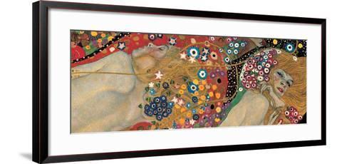 Water Serpents II, c.1907 (detail)-Gustav Klimt-Framed Art Print