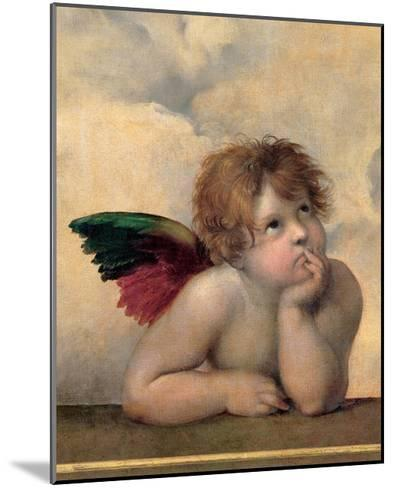 Detail of the Sistine Madonna, c.1514-Raphael-Mounted Giclee Print