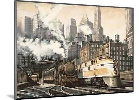 The Station, Chicago-Matthew Daniels-Mounted Giclee Print