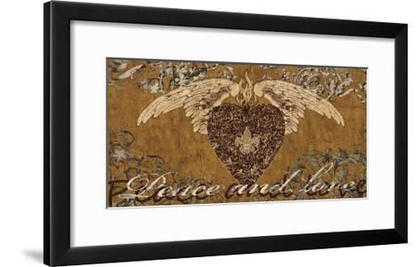 Peace and Love-Brandon Glover-Framed Art Print