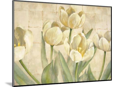 White Tulips on Ivory-Lauren Mckee-Mounted Giclee Print