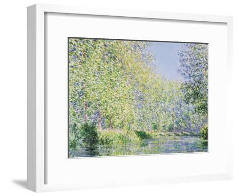 The Epte River near Giverny-Claude Monet-Framed Art Print