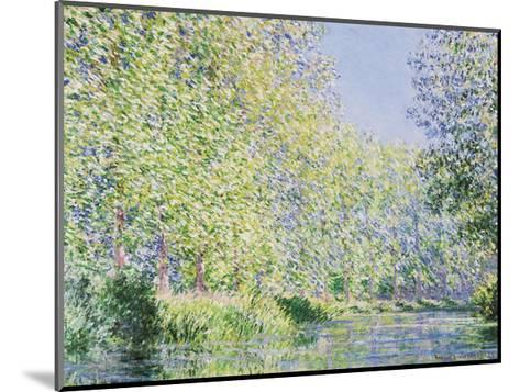 The Epte River near Giverny-Claude Monet-Mounted Giclee Print