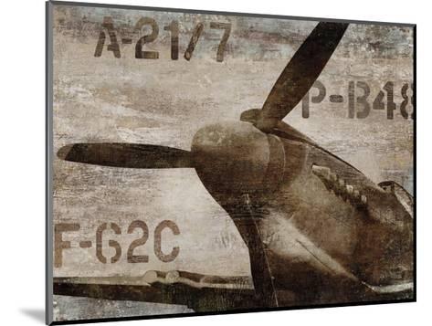 Vintage Airplane-Dylan Matthews-Mounted Giclee Print