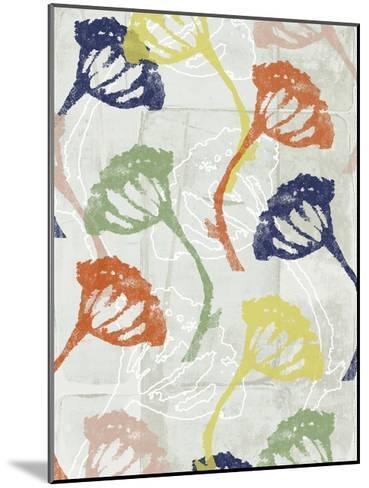 Stamped Floral II-Jennifer Goldberger-Mounted Art Print