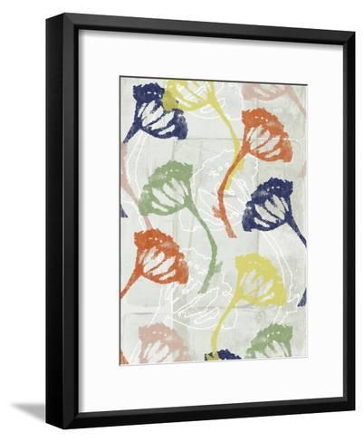 Stamped Floral II-Jennifer Goldberger-Framed Art Print