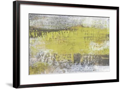 Yellow & Grey Serenity I-Jennifer Goldberger-Framed Art Print