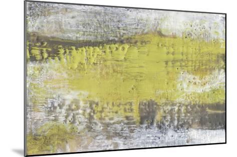 Yellow & Grey Serenity I-Jennifer Goldberger-Mounted Limited Edition