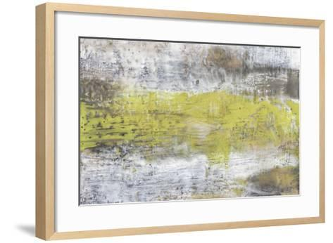 Yellow & Grey Serenity II-Jennifer Goldberger-Framed Art Print