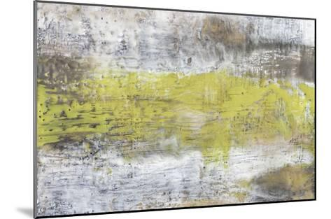 Yellow & Grey Serenity II-Jennifer Goldberger-Mounted Limited Edition