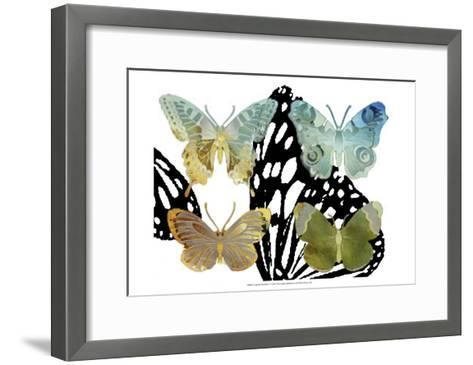 Layered Butterflies IV-Sisa Jasper-Framed Art Print