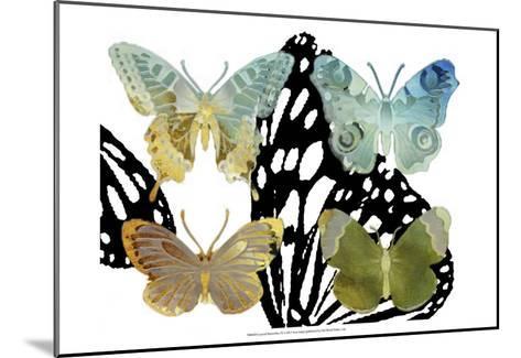 Layered Butterflies IV-Sisa Jasper-Mounted Art Print