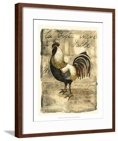 Tuscany Rooster II-D^ Bookman-Framed Art Print