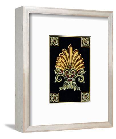 Petite Finial on Black II--Framed Art Print