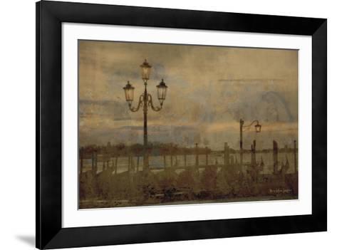 Dawn & the Gondolas I-Terry Lawrence-Framed Art Print