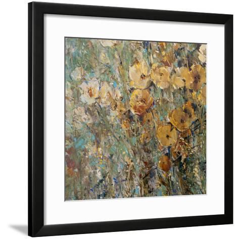 Amber Poppy Field I--Framed Art Print