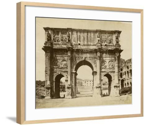 The Arch of Constantine-Giacomo Brogi-Framed Art Print