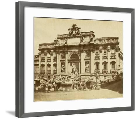 The Trevi Fountain-Giacomo Brogi-Framed Art Print