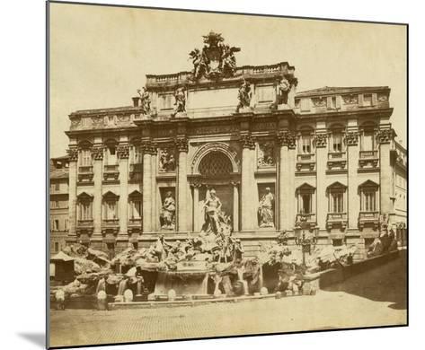 The Trevi Fountain-Giacomo Brogi-Mounted Giclee Print