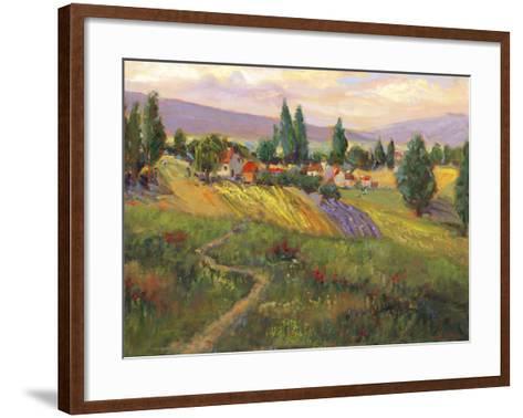 Vineyard Tapestry III-Nanette Oleson-Framed Art Print