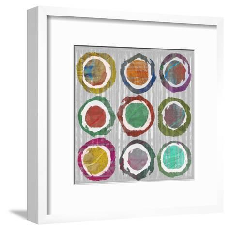 Jagged Circles II-Jennifer Goldberger-Framed Art Print