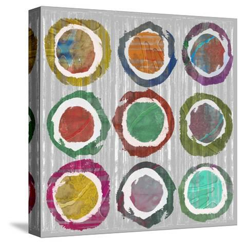 Jagged Circles II-Jennifer Goldberger-Stretched Canvas Print
