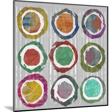 Jagged Circles II-Jennifer Goldberger-Mounted Art Print
