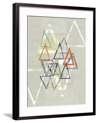 Stamped Triangles II-Jennifer Goldberger-Framed Art Print
