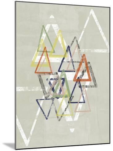 Stamped Triangles II-Jennifer Goldberger-Mounted Giclee Print